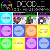 Doodle COLORING Shapes BUNDLE {Made by Creative Clips Clipart}