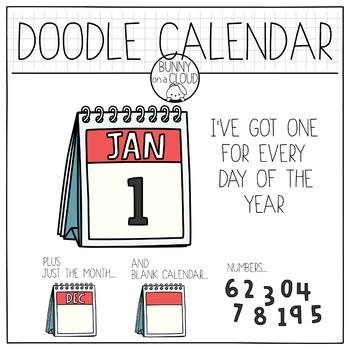Doodle Calendar by Bunny On A Cloud