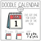 Doodle Calendar Clipart