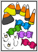 Candy Corn Kids Clipart Kit