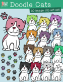 Doodle Cats Clip Art – Commercial Use