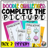 Doodle Challenges Math COMPLETE THE PICTURE  | Symmetry