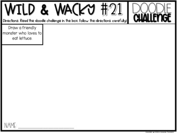Doodle Challenges- Wild and Wacky