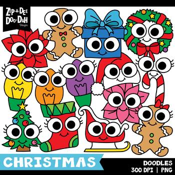 Doodle Christmas Clipart Set {Zip-A-Dee-Doo-Dah Designs}
