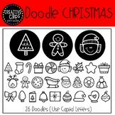 Doodle Christmas FONT {Creative Clips Clipart}