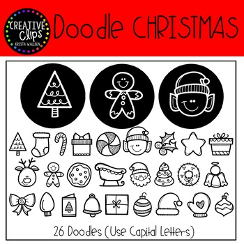 Doodle Christmas FONT {Creative Clips Clipart}