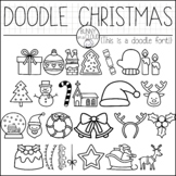 Doodle Christmas by Bunny On A Cloud (This is a doodle font!)