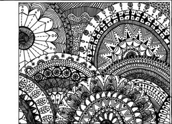 Doodle Circle Coloring Sheets