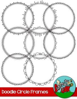Doodle Circle Frames - Skinny