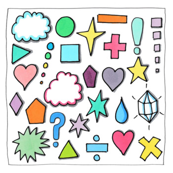 Doodle Clipart Pack for Decorating Worksheets/Flashcards