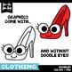 Doodle Clothing Clipart Set {Zip-A-Dee-Doo-Dah Designs}