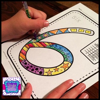 Doodle Color By Number Activities