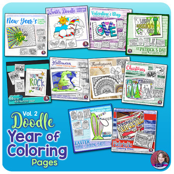Doodle Coloring Activities for a Year - Vol. 2