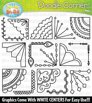 Doodle Corners Clipart Set {Zip-A-Dee-Doo-Dah Designs}