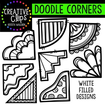 Doodle Corners {Creative Clips Digital Clipart}