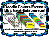 Doodle Cover Pages- Build Your Own (124 images) Personal & Commercial Use
