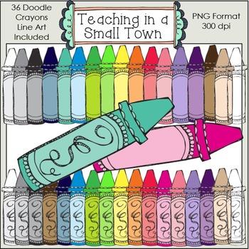 Doodle Crayons Clip Art