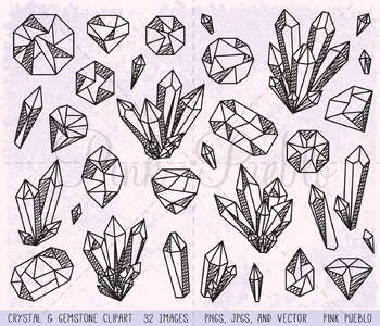 Doodle Crystal Clipart Crystal