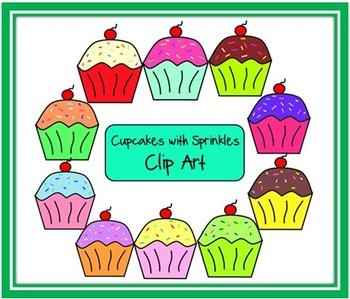 Doodle Cupcakes Clip Art
