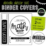 Doodle Decor Binder Covers and Spines