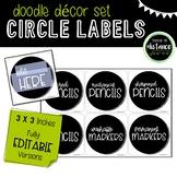 Doodle Decor Circle Labels