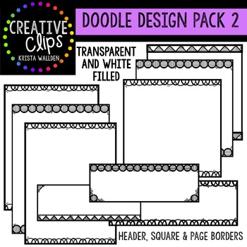 Doodle Design Pack #2 {Creative Clips Digital Clipart}