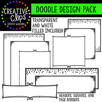 Doodle Design Pack {Creative Clips Digital Clipart}