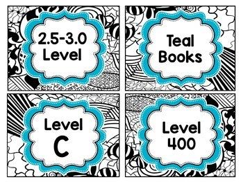 Doodle Designs Classroom Library Labels, Book Bins & Genre Poster Set {EDITABLE}