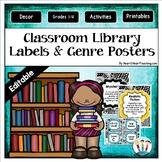 Doodle Designs Classroom Library Labels, Book Bins & Genre