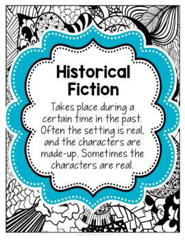 Doodle Designs Literature Genre Poster Set {EDITABLE}