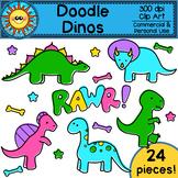 Doodle Dinos Clip Art