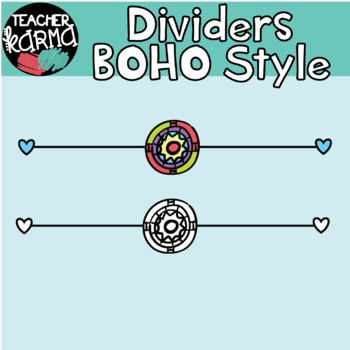 Doodle Dividers: BOHO Style