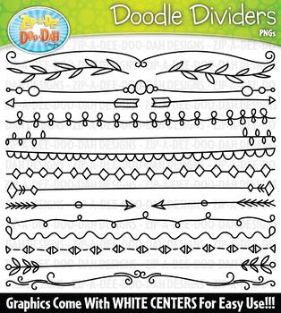 Doodle Dividers Clipart Set 1 {Zip-A-Dee-Doo-Dah Designs}