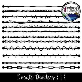 Doodle Dividers Set 1 Clipart Bundle