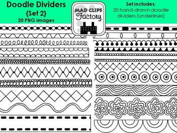 Doodle Dividers {Underlines} Set 2