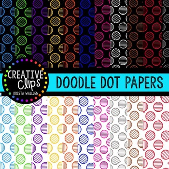 Doodle Dot Papers {Creative Clips Digital Clipart}