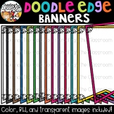 Doodle Edge Banners {Banners Clipart}