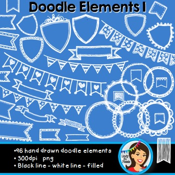 Doodle Clip Art Black and White