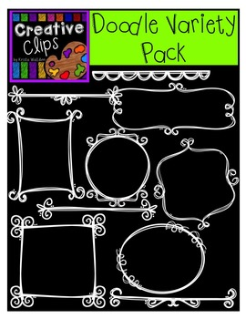 Doodle Elements Variety Pack {Creative Clips Digital Clipart}