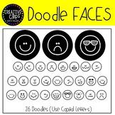 Doodle Faces FONT {Creative Clips Clipart}