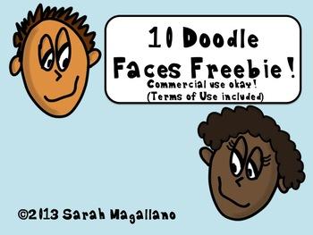 Doodle Faces Freebie!