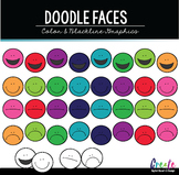 Doodle Faces - Digital Clipart