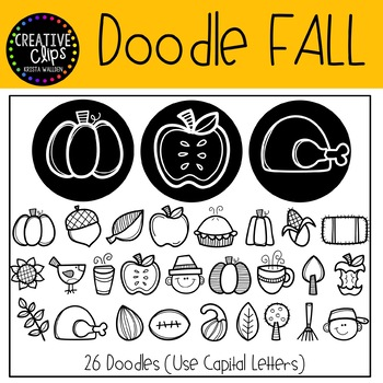 Doodle Fall FONT {Creative Clips Clipart}