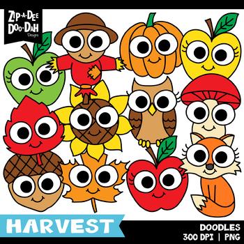 Doodle Fall Harvest Clipart Set {Zip-A-Dee-Doo-Dah Designs}
