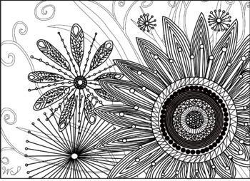 Doodle Flower Color Sheet