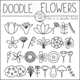 Doodle Flowers by Bunny On A Cloud (This is a doodle font!)