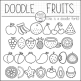 Doodle Fruits by Bunny On A Cloud (This is a doodle font!)