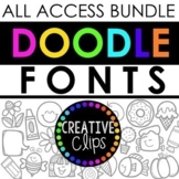 Doodle Font All Access Bundle {Creative Clips Clipart}
