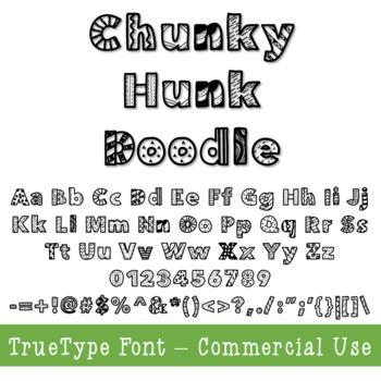 Doodle Font TTF - Commercial Use