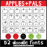 Doodle Fonts - Apples and Pals